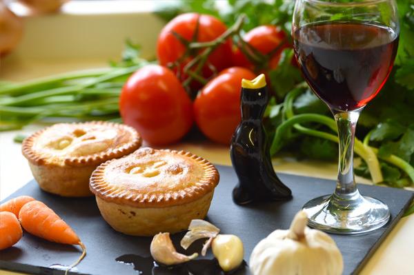 Beef bourguignon pie